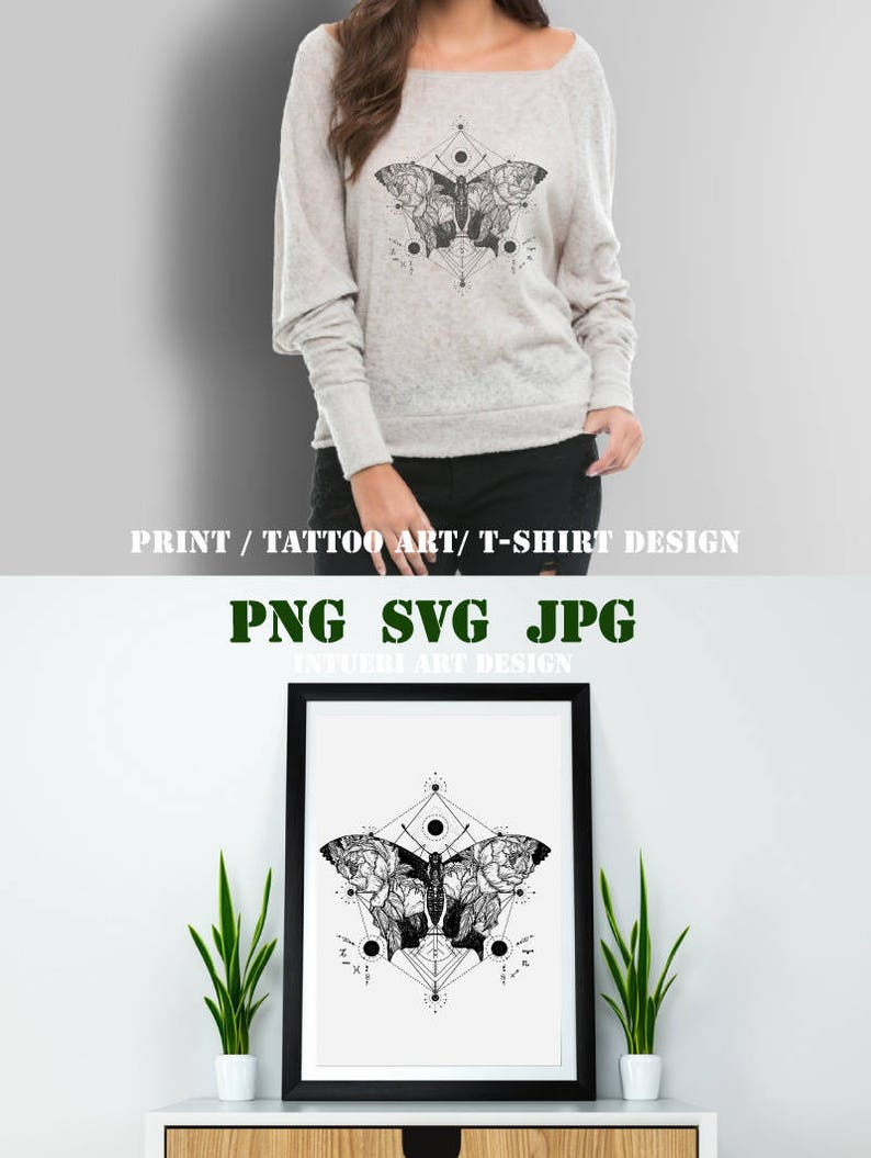 fd152494750dd Butterfly svg Butterfly tattoo in geometrical style. Beautiful | Etsy