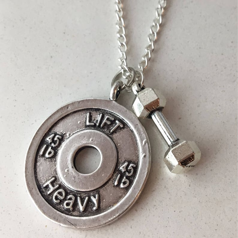 Fitness Necklace Weightlifting Gifts Jewelry