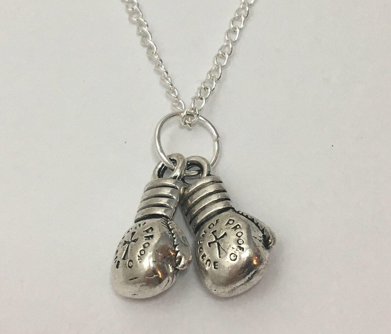 Double Boxing Glove Necklace Kickboxing Gifts For Her