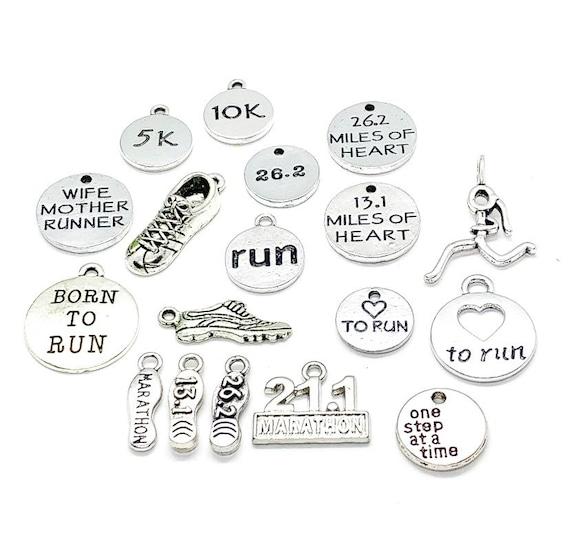 13.1 Shoe Love To Run 26.2 Shoe 7 Running Charms 5K No Excuses Marathon Shoe 10K