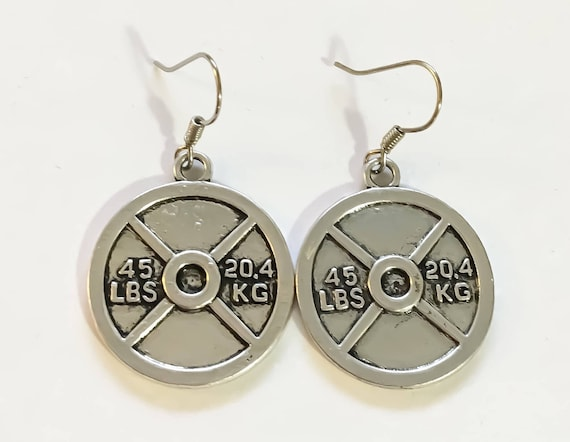Weight Plate Earrings