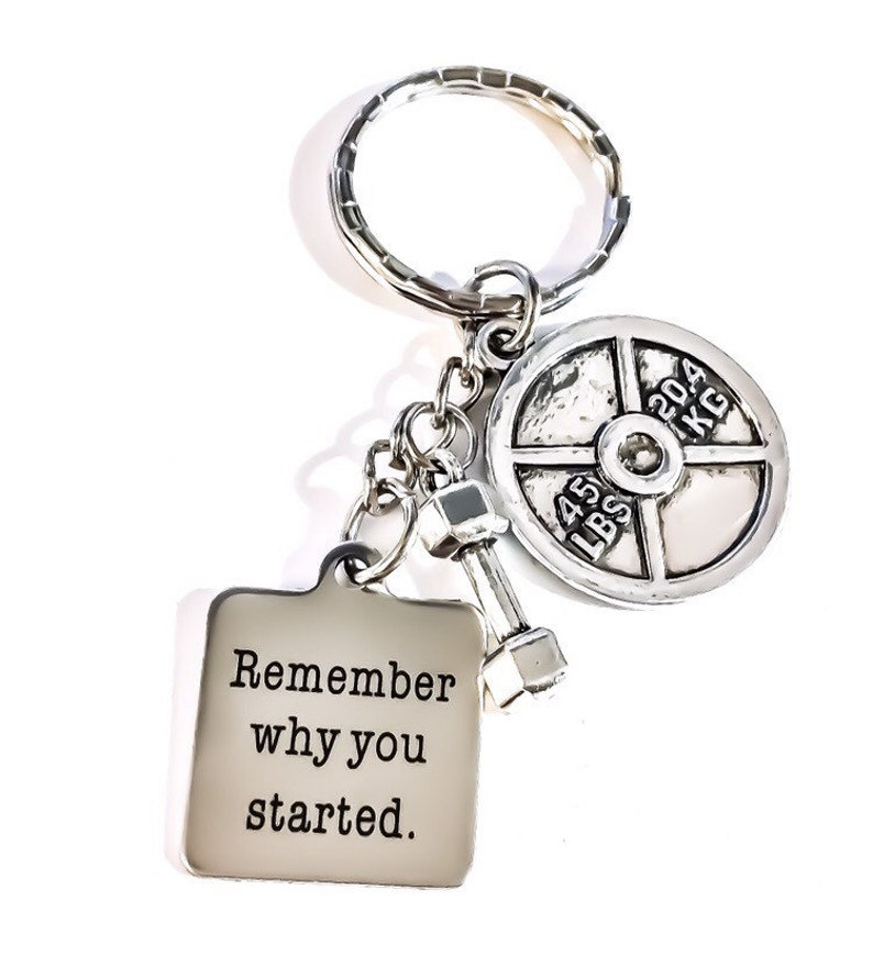 Fitness Lover Gifts Crossfit Personal Trainer Gift Gym Keychain Fitness Keychain Remember Why You Started Weight Loss Motivation
