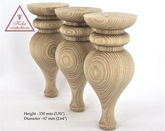 Handmade wooden leg Wooden turned feet Coffee table leg Sofa legs Turned wooden leg Wooden furniture legs Farmhouse table leg Decorative leg