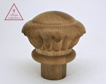 Staircase Finial Bed Finial Wood Finial Decor Furniture Decor Wood Finial  Wood Post Finial Furniture Restoration