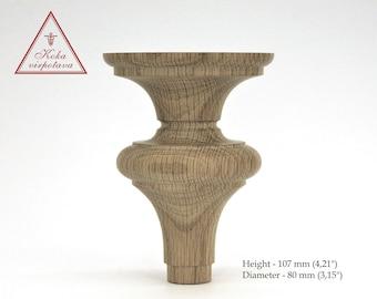 Wood feet Handmade wooden leg Furniture leg Turned wooden leg Sofa leg Wooden turned feet Coffee table leg Farmhouse table leg Bed leg Wood