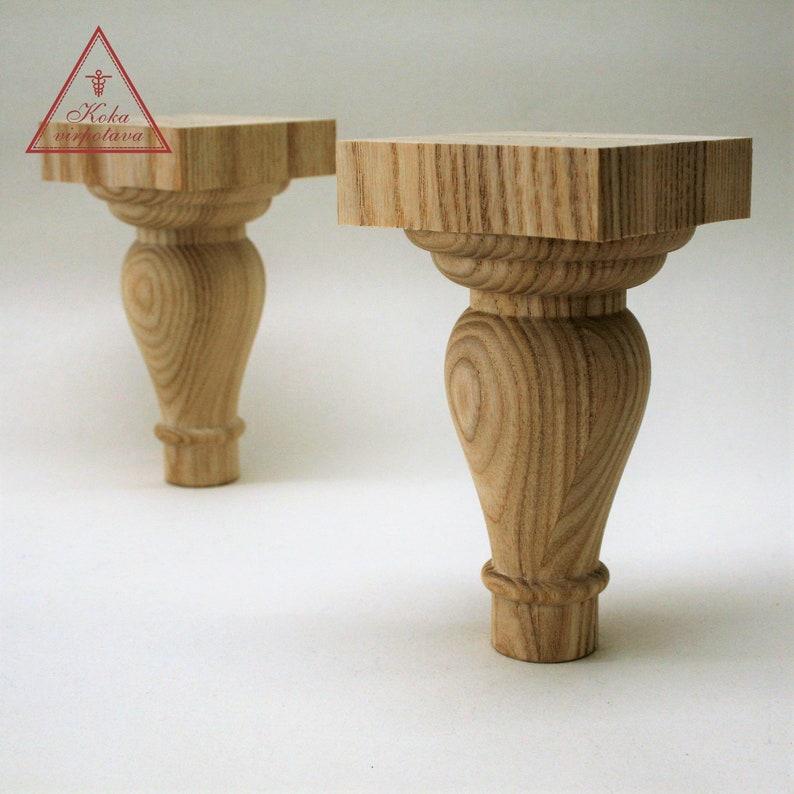 Farmhouse Table Leg Furniture Leg Wood Turned Wooden Leg Etsy