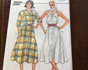 Butterick 3225 Vintage Flared Dress Sz 6, 8, 10