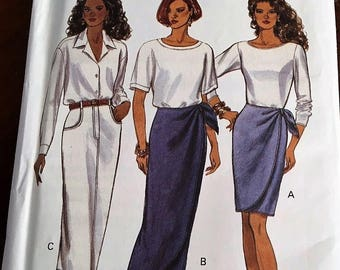 Butterick # 6596 Pattern Easy Misses Semi fitted Skirt, Size 6,8, 10