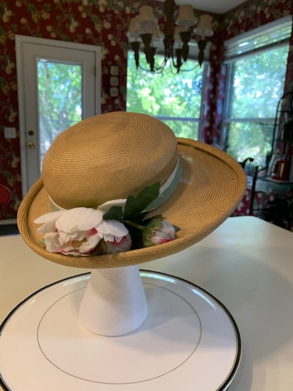 Charming Vintage 1950's Patrice Straw Hat