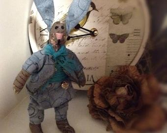 Bunny Rabbit Handmade rabbit Soft little toy Rag rabbit Hare protector