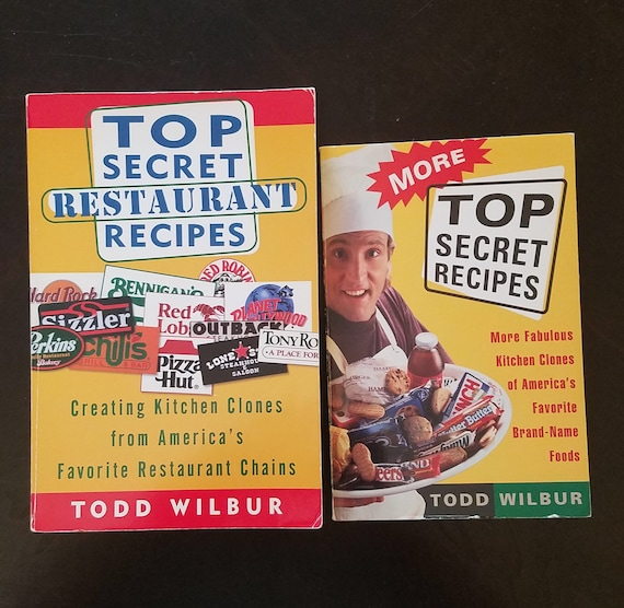 Top Secret Recipes And Restaurant Recipes Cookbooks By Todd Etsy