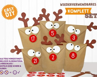 DIY Advent Calendar to Fill Moose Reindeer - The Original from Germany