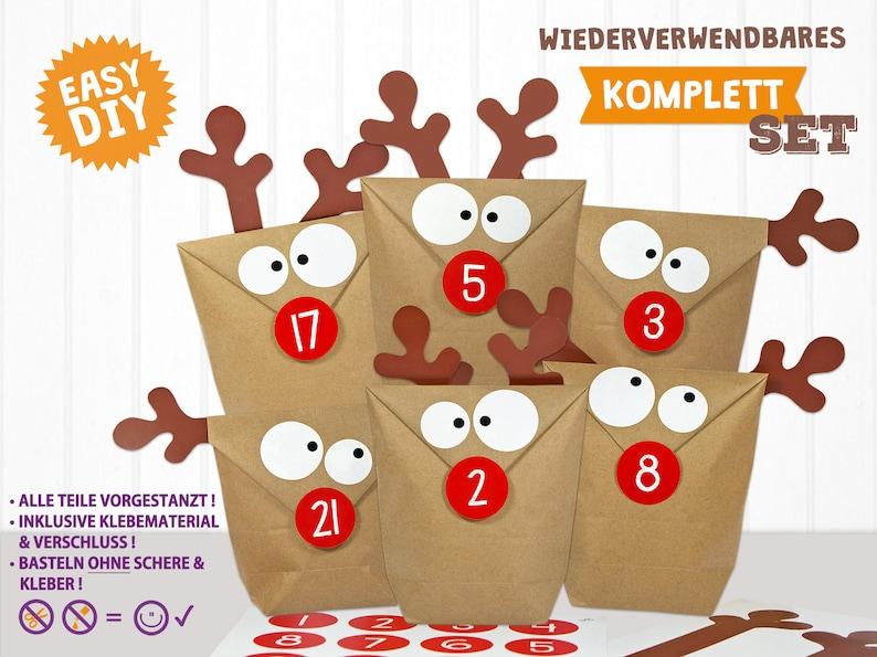 DIY Advent calendar Moose Reindeer-the original to fill image 0