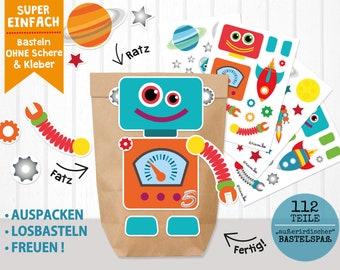 DIY Advent Calendar Robot Universe to Fill for Boys