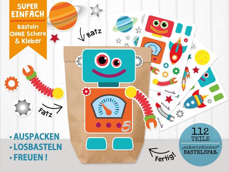 DIY Advent Calendar Robot universe to fill for guys image 0