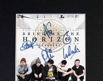 BMTH Bring Me The Horizon #559 Mounted Signed Photo Reproduction Autograph Print A4