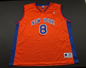 Vintage 90s champion Latrell Sprewell New York knicks basketball jersey  mens 48 NBA  8 ac66de541