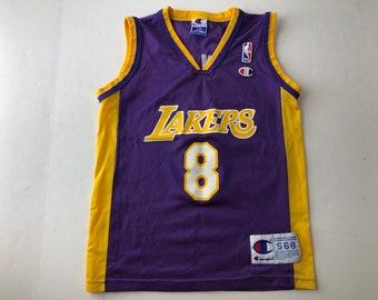 8ad9d16130c Vintage 90s kobe bryant #8 wide shoulder champion brand basketball jersey  youth S nba basketball