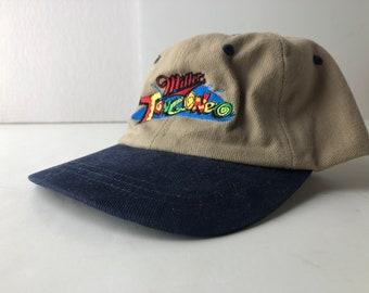02f4e0478addd Vintage 90s mestizzo el tongoneo miller lite beer strapback cap hat  deadstock embroidered