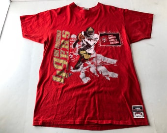 366c1870 Red gold 49ers shirt   Etsy