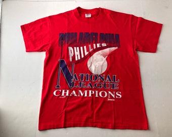 4f963b99290 Vintage 1993 philadelphia phillies national league champions t-shirt mens L mlb  baseball