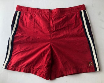 f52be0c080 Vintage 90s Tommy Hilfiger embroidered crest logo swimming trunks mens L  swim shorts
