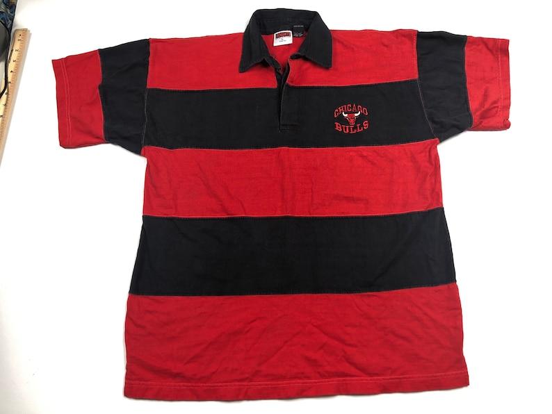 93b5334ec90 Vintage 1997 Chicago bulls striped embroidered logo polo shirt | Etsy