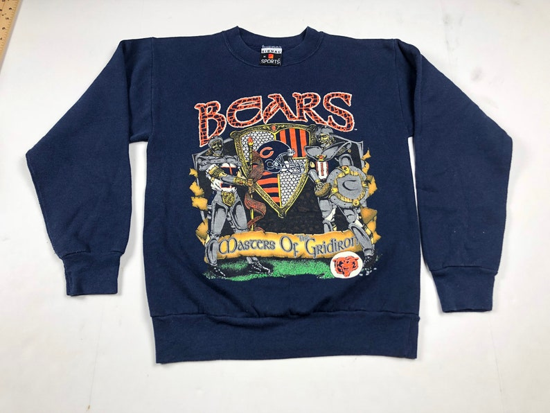 reputable site e0634 b6042 Vintage 1991 chicago bears masters of the gridiron crewneck   Etsy