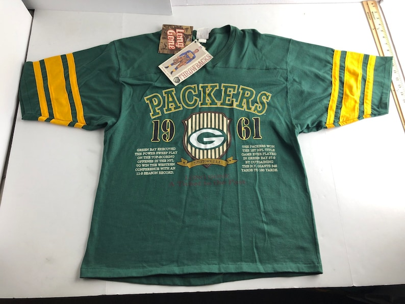 95aa8416 NWT Vintage 90s Green Bay packers football jersey style t-shirt mens L nfl