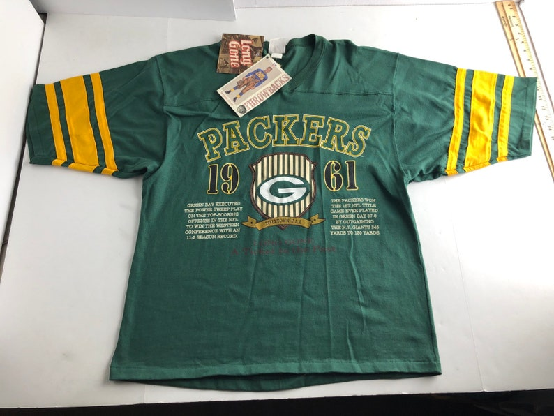 c9de88a6 NWT Vintage 90s Green Bay packers football jersey style t-shirt mens L nfl