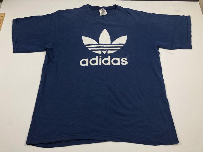 T Shirt Vintage Sportswear Made Usa Adidas Mens Trefoil Xl 90s Logo redCoxBW