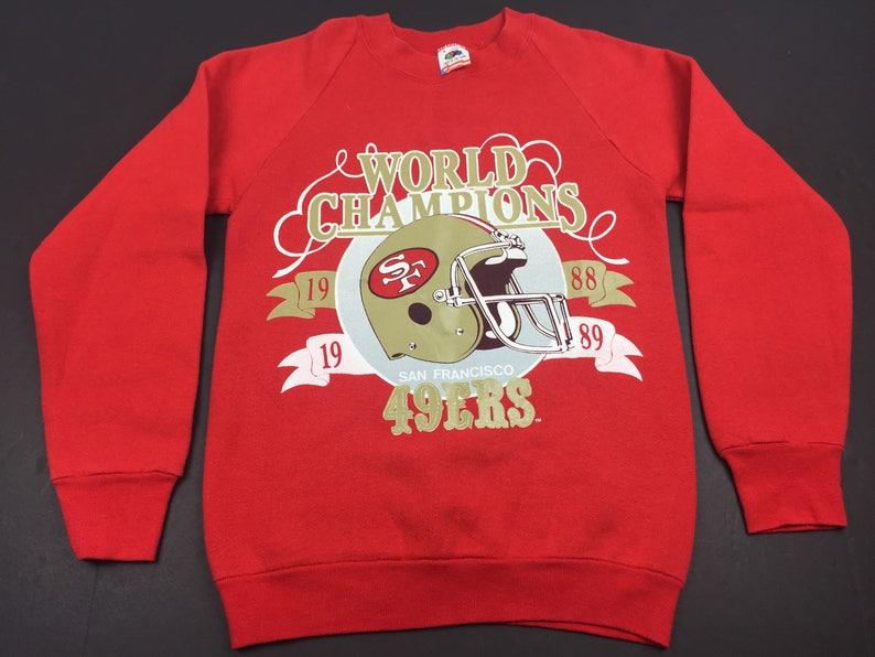 40d74d91556 Vintage 1989 San Francisco 49ers super bowl champions crewneck