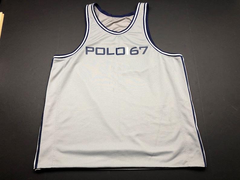 3ceef725f Vintage 90s Ralph Lauren polo sport 67 basketball jersey mens