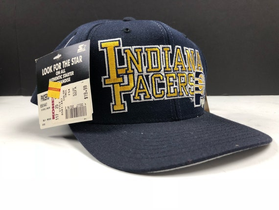 NWT Vintage 90s indiana pacers snapback cap hat nba basketball  e49d3f46d7f