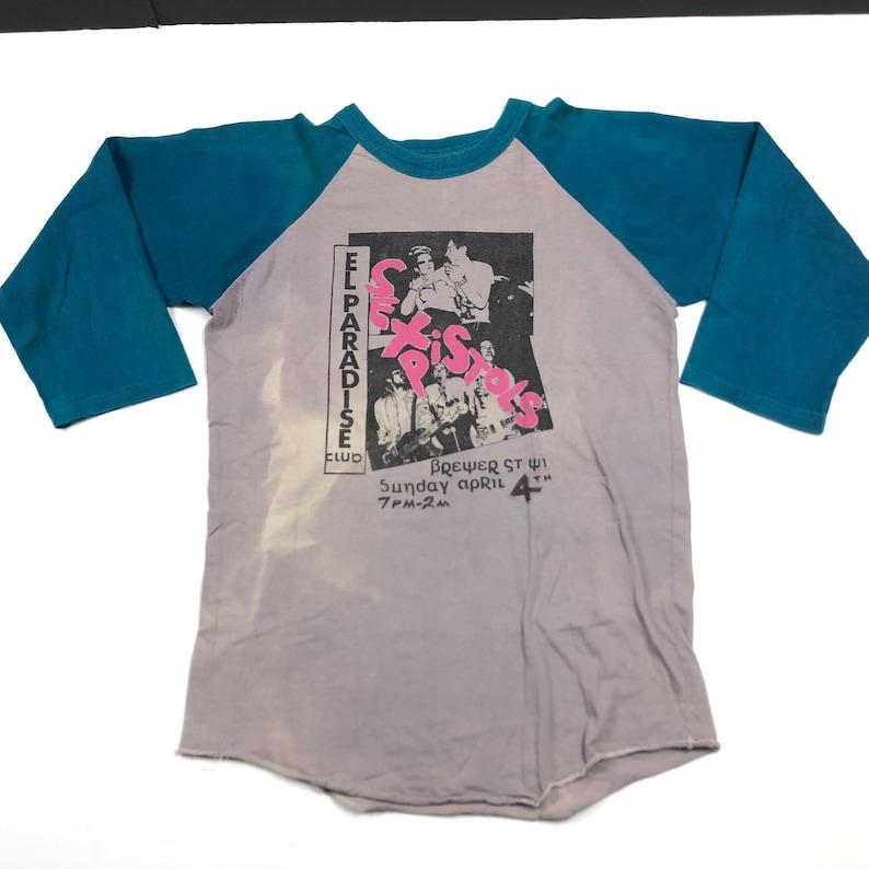c7ec8fcfb7c2 Vintage 90s Sex Pistols raglan tee 3 4 sleeve baseball t-shirt