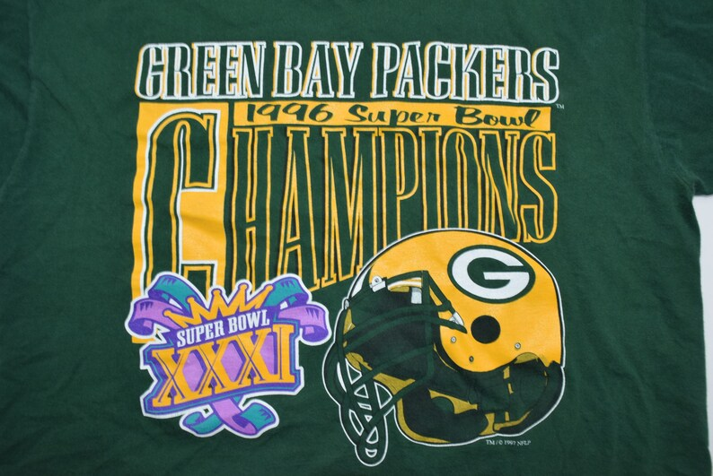 7207f23b Vintage 90s Green Bay Packers Super Bowl XXXI 31 Champions   Etsy