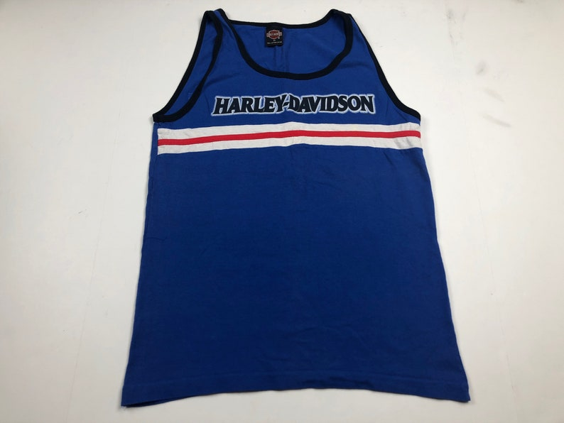 6e6a65cc9bfb91 Vintage Harley Davidson motorcycles tank top t-shirt mens M