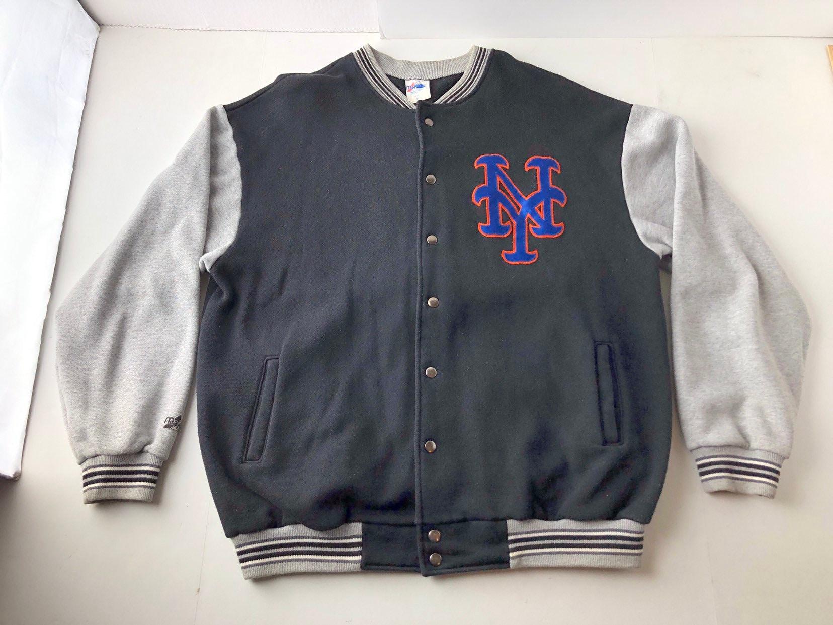 5928bd6d0 Vintage 90s New York mets sweatshirt jacket mens XL authentic | Etsy