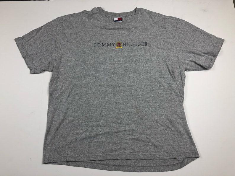 5891ad83 Vintage 90s Tommy Hilfiger Spellout Crest Logo T Shirt Mens Xl Etsy