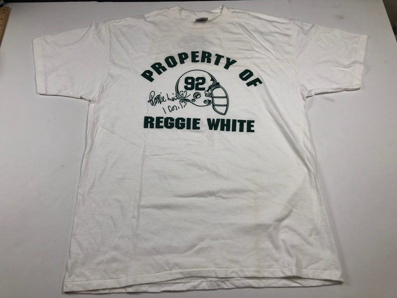 new arrival 21259 8e262 Vintage 90s Green Bay Packers reggie white helmet logo t-shirt mens XL nfl  football