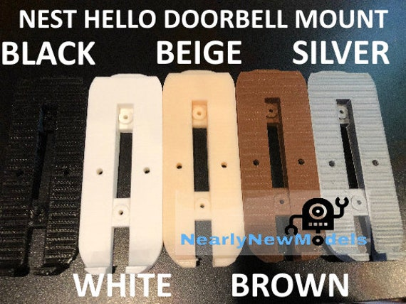 Nest Hello Doorbell Mount For Vinyl Hardi Board Aluminum