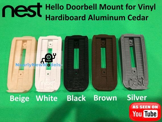 Nest Hello Doorbell Mount For Vinyl Hardi Board Aluminum Etsy