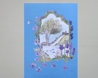 Spring Awakening, Folding card