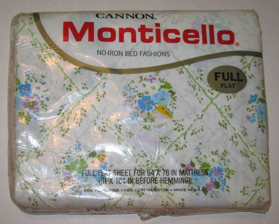 NEW Cannon Monticello Full Flat Sheet