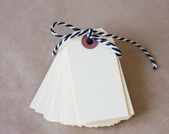 """100 Small Manila Hang Tag, 3 1/4"""" x 1 5/8"""" manila tag, blank paper tags, inventory tags, gift tags, #2 hang tags"""