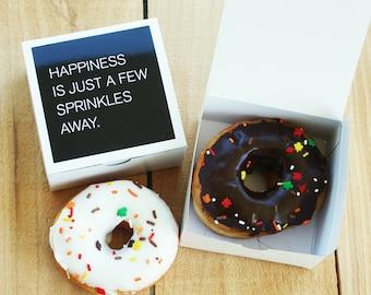 Dozen Individual Donut Boxes, 12 white or kraft single doughnut boxes