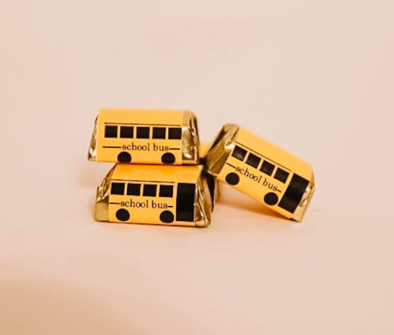 school bus candy wrapper instant download bus driver image 0