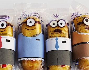 Minion Missionary Twinkie Wrappers INSTANT DOWNLOAD, Minionary Twinkie Wrappers, LDS missionary printable