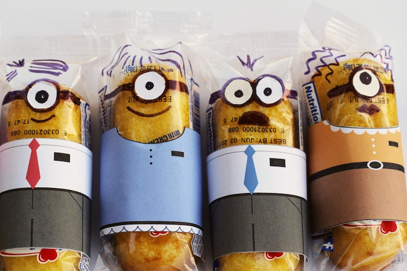 Minion Missionary Twinkie Wrappers INSTANT DOWNLOAD Minionary image 0