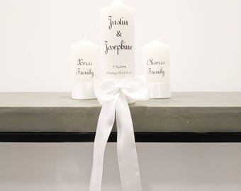 Wedding Candle, Unity Candles, Church Candles, Bow, Candle Set, Marriage Candles, Big Bow, Bow Candles, Church Candle, Satin, Josephine Set)
